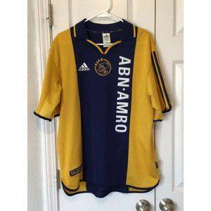 2000 Rare Ajax Amsterdam Adidas Away Jersey Lg